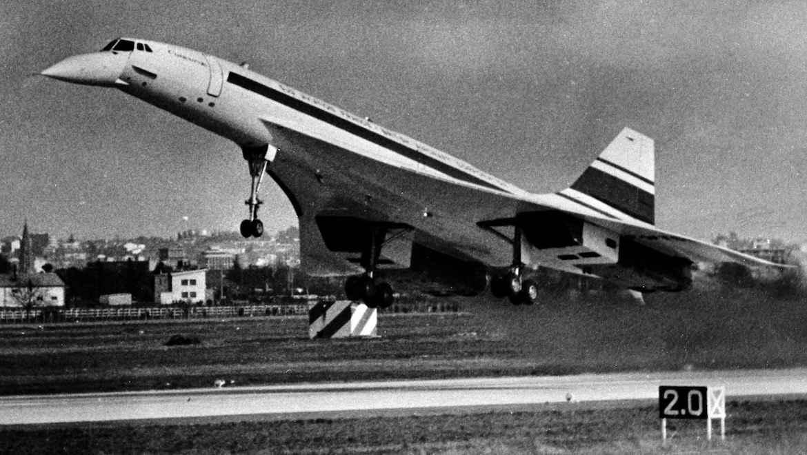 Concorde 001 took its first flight on March 2 1969. (Commons Wikimedia/Archives municipales de Toulouse)