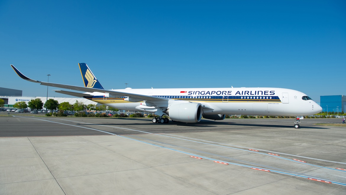 Singapore Airlines' Airbus A350-900ULR flies nonstop between Singapore and the United States. (Singapore Airlines/Airbus)