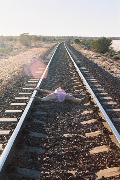 tied on railway