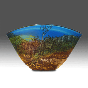 Anjimjim by Jonathon Westacott. Blown and carved glass from original drawings. Side 1.