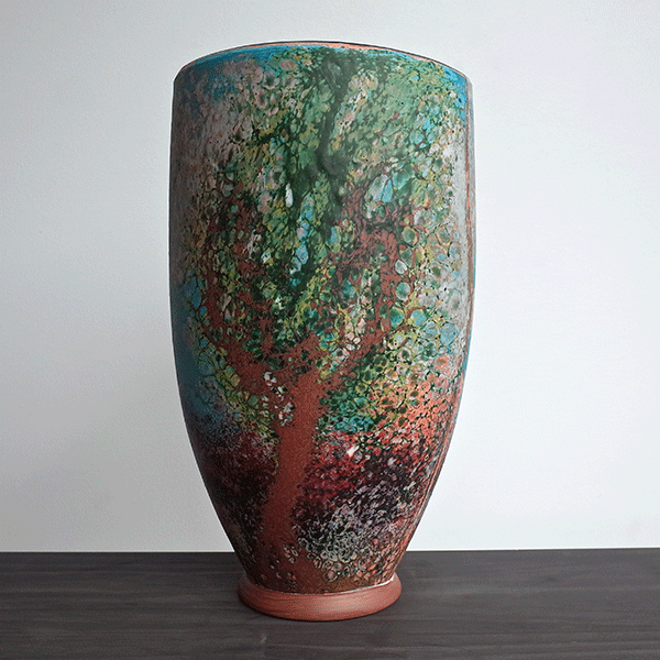 Geologic Storage Facility by Brenden Scott French. Side 1 Blown Glass. Note: Call for availability. Orders taken.