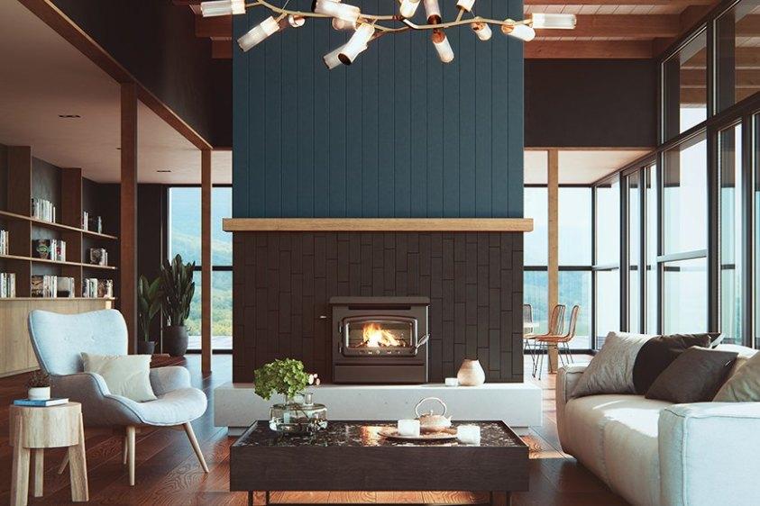 nectre inbuilt wood fired heater fire palce wood fire australian hydronics
