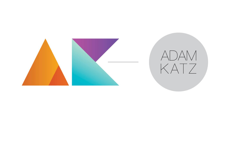 AK Album cover - AK lettering represented as colourful geometric designs on a white background
