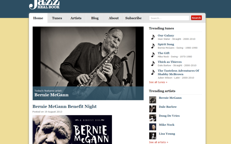 Australian Jazz Real Book website