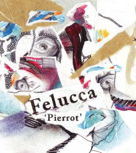 album cover - Pierrot by Felucca. Featuring artistic scrap booking approach