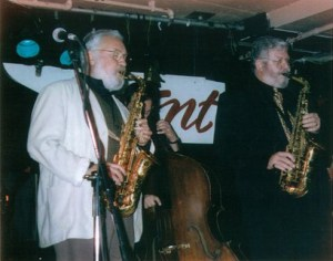Lee Konitz and Bob Bertles on stage