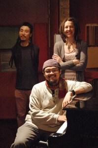 ade ishs Trio - ade ishs (piano, seated), Daigo Nakai (bass), Chelsea Allen (drums)
