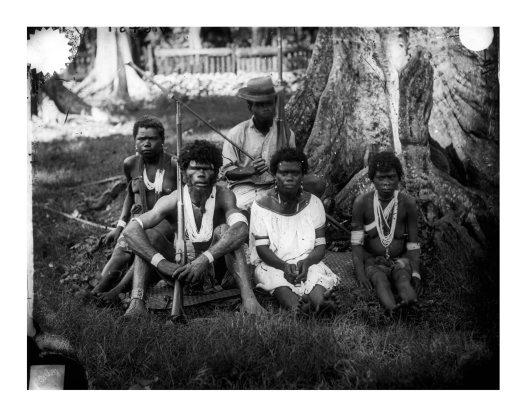 Warumwarum and family, Duke of York Island, PNG