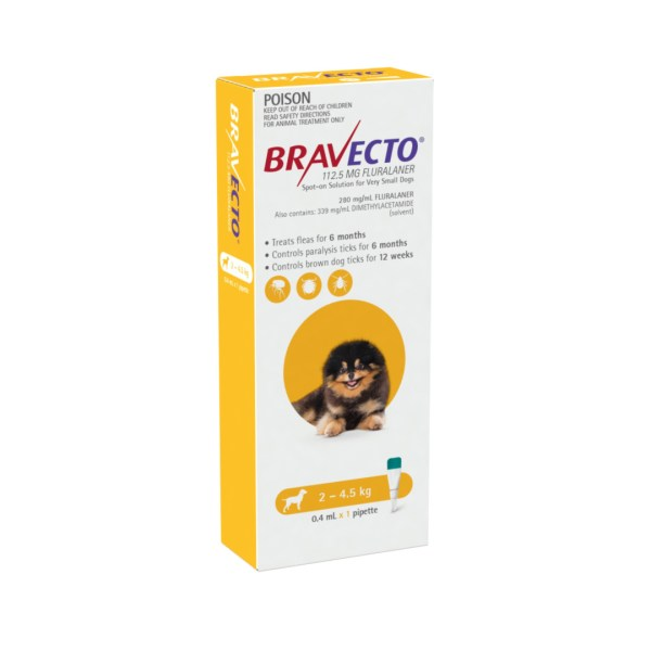 Bravecto Spot-on Very Small Dog