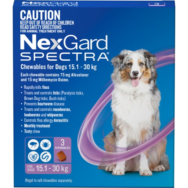 NexGard Spectra Large Dog 3 Pack