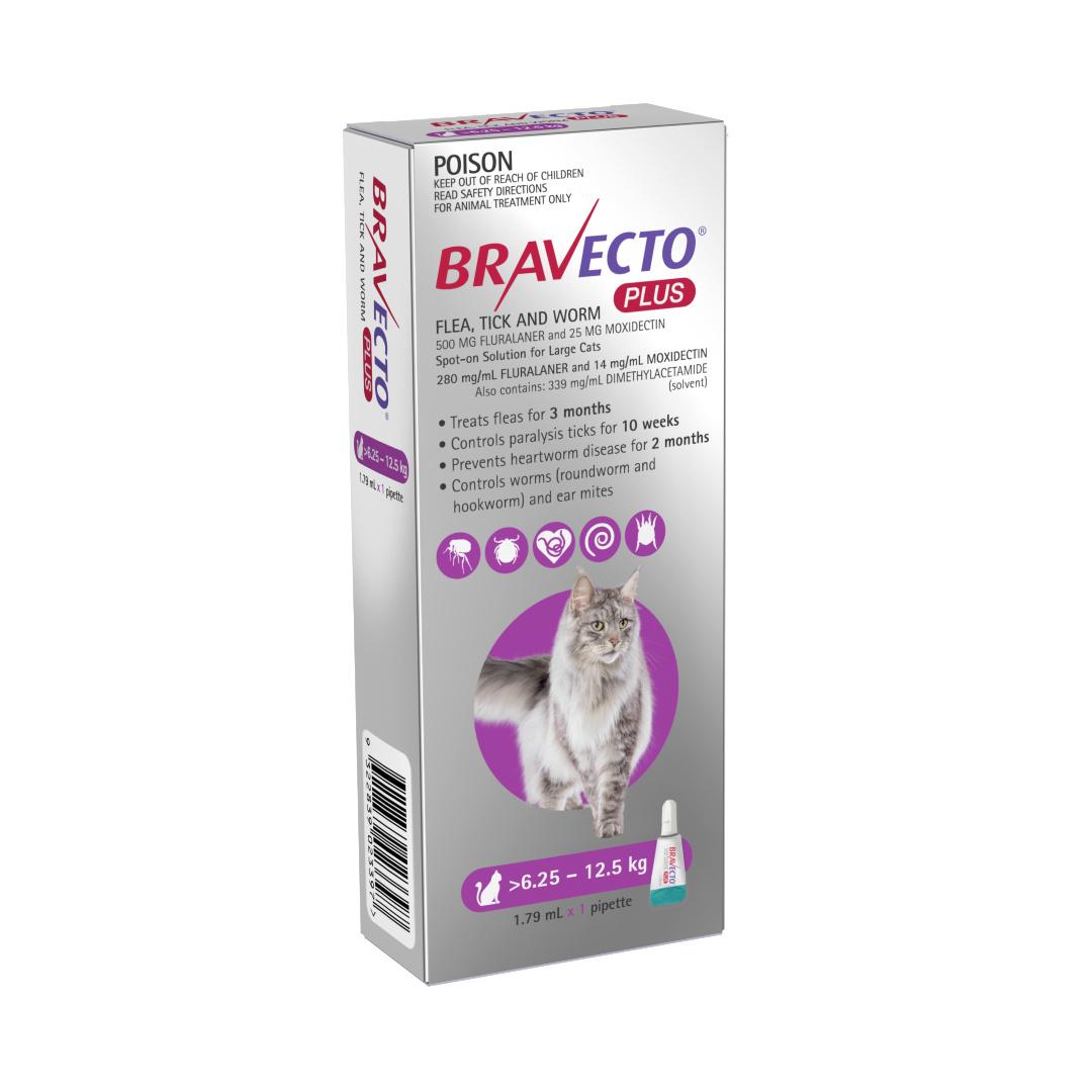 Bravecto Plus Large Cat 6 25 12 5kg Spot On Australian Pet Treat Company