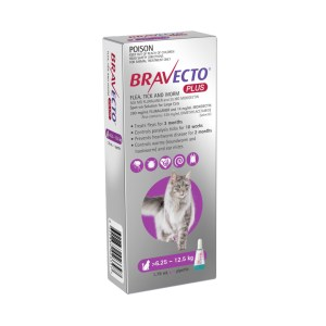 Bravecto Plus Spot-on Large Cat