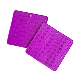 Purple Square Mat front and Back
