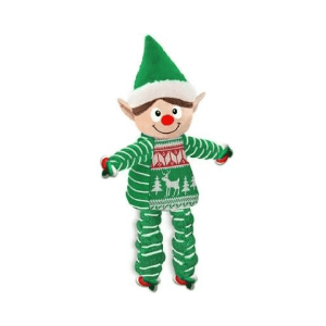 KONG Holiday Floppy Knots Elf Medium