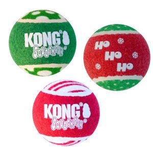 KONG Holiday SqueakAir Ball 3 pack Med