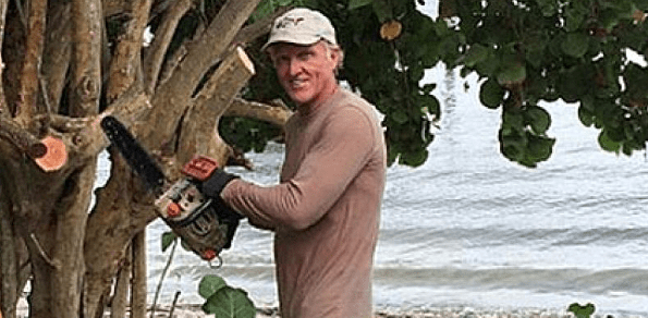 Norman last week posted a photo of himself working with a chainsaw to cut back a small tree.Instagram: @shark_gregnorman