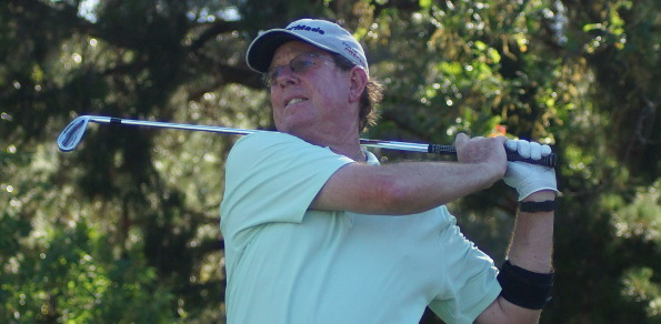 Larry Canning potted his 8th hole-in-one on the 8th hole at Richmond Golf club