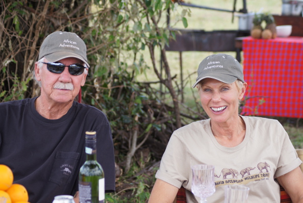 """Bob and wife Lucy are now active in business, including their """"African Adventures"""" Golf and Safari Tours"""