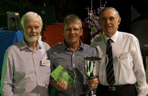 Tournament director John Baylis, scratch Champion Tom Harold and AVGU President Dick Farant