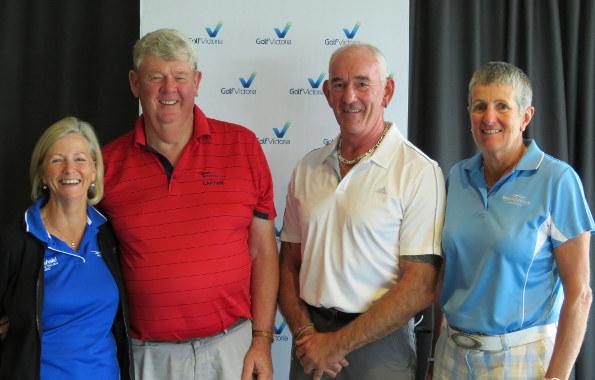 Helen Somogyi, Michael Ransom, Bryce Birtwistle & Helen Pascoe – winners at the 2016 Box Hill Seniors