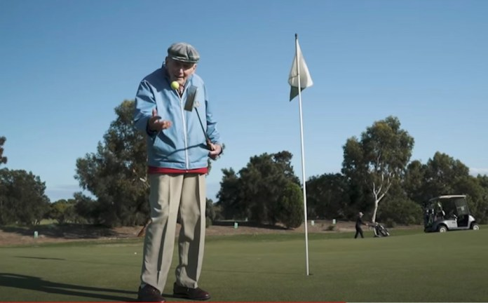 A wonderful video about a 95 year old man playing his very last round of golf