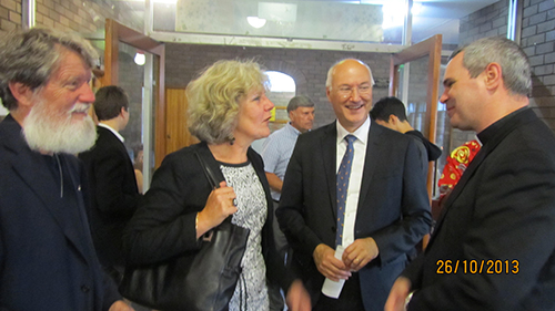 13- with Margaret and Erick Berti Consul General of France