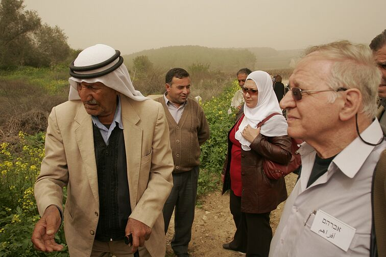 """""""Knowing is the Beginning"""" - PCFF members visiting a village which existed before 1948 , called Ekbeba. (2007)"""