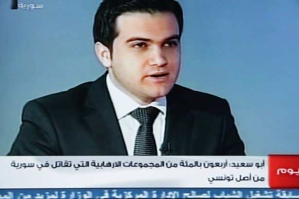 Syrian TV interviewer