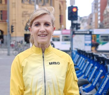 Owner operator of www.biketours.melbourne, Michelle Brown. Source: supplied