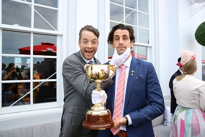 L to R: Hamish Blake and Andy Lee