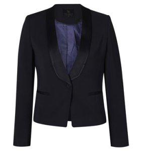 Linden Satin Trim Tuxedo Jacket