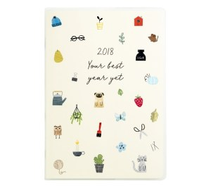 2018 A5 WEEKLY DIARY: SWEET