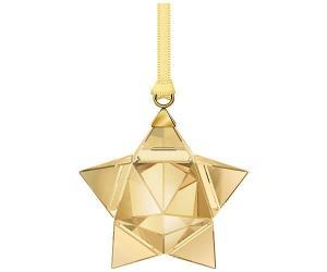 Swarovski Star Ornament, Gold Tone, small Full-colored