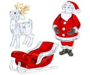Swarovski Santa Scene Set Full-colored