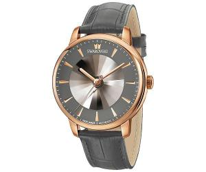 Swarovski Atlantis Limited Edition Automatic Men's Watch, Leather strap, Gray, Rose gold tone Gray Rose gold-plated