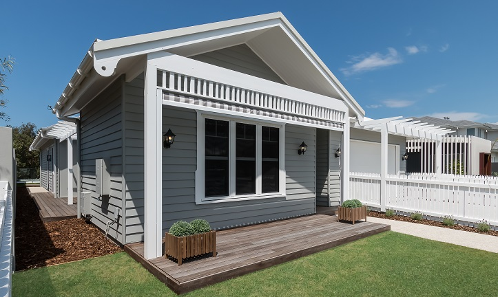 Wrapping the house in Scyon Linea weatherboard, with its beautiful deep shadow line look, will be its most striking feature from day-dot.