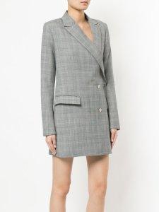 DION LEE checked blazer dress