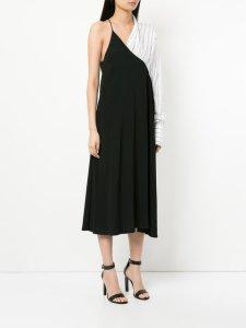 STRATEAS CARLUCCI Hybrid Slip one-shoulder midi dress