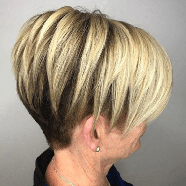 Asymmetrical Long Pixie hairstyle