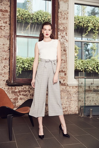 Nelly Pleated Top + Leslie Tie Waist Culottes