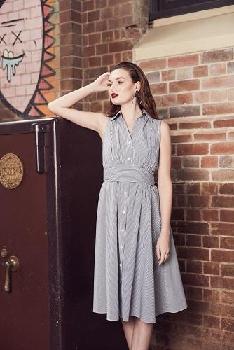 Pristine Sleeveless Shirt Dress