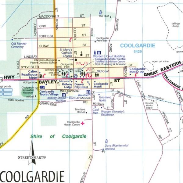 GoldfieldsEsperance Regionalkarte Landkarte