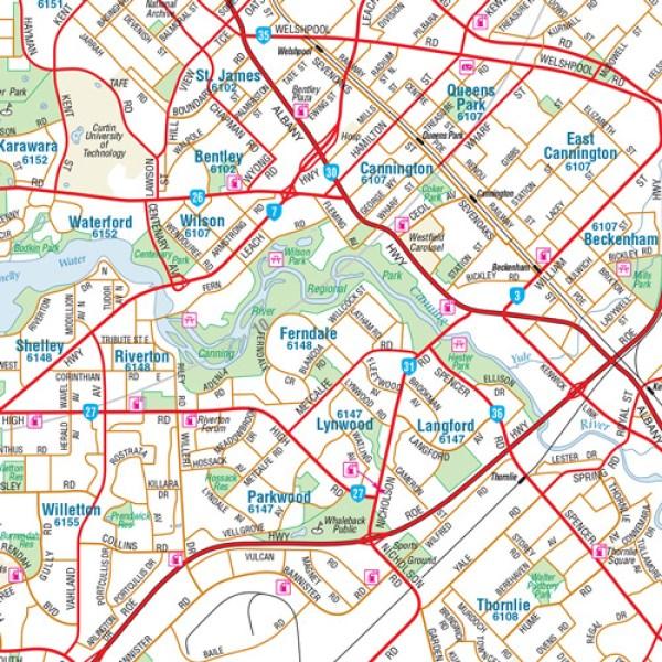 Stadtplan Perth quotPerth Region Handyquot Stadtplan City