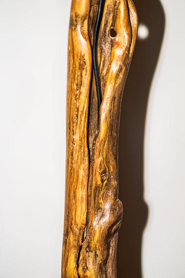 drift wood Floor Lamp with hidden cable