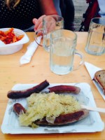 Bratwurst and Sauerkraut