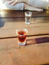 Schnaps - Cherry (Clear) and Walnut (Brown)