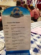 Bavarian Phrases Deemed Important at an Octoberfest