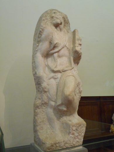 Michelangelo's Unfinished Saint Matthew in Galleria dell' Accademia