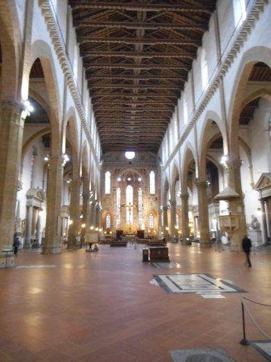 Interior of Basilica di Santa Croce
