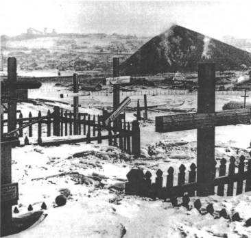 Cemetery at a coal mine in the Vorkuta complex of penal camps, 1956